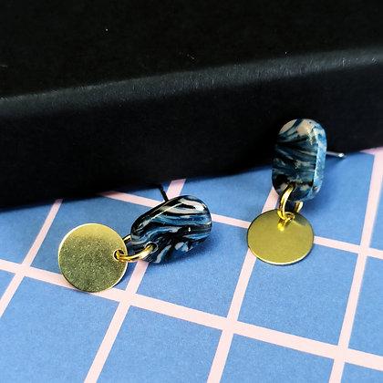 Mini Puces Bleues et Noires marbrées