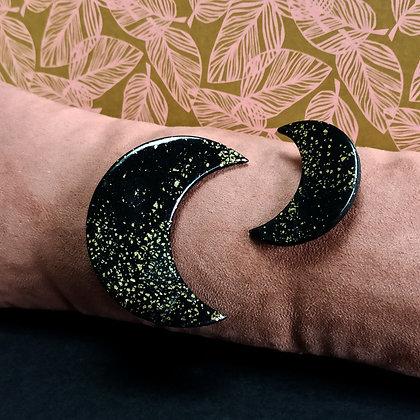 Broche Luna Noire et Dorée