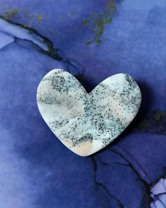 Broche Maryline Granite Blanche et Rose