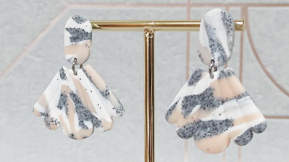 Brigitte Granite blanc et rose