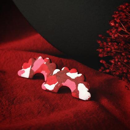 Lucile Terrazzo Rouge Rose et Blanc