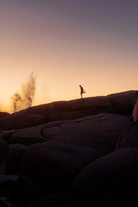 Mann im Sonnenuntergang Sport Lifestyle Fotografie