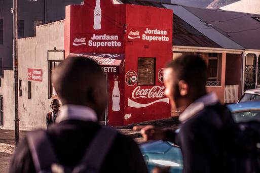 Fotoproduktion Kapstadt Coca Cola Hausecke