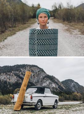 Auto mit Teppich Pad Concept Fotoproduktion