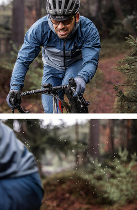 Fotoproduktion Rennradfahrer im Schlamm