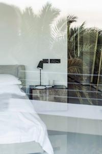 Bett im Haus Fotoproduktion Südafrika