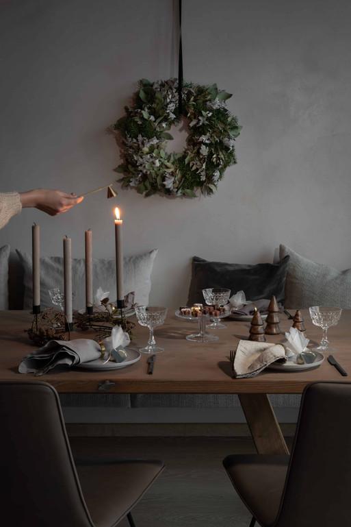 Stilllebenfotografie Tisch Weihnachten