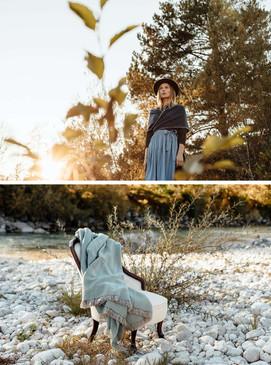 Katalog Fotoshooting Fotoproduktion Frau im Wald