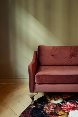 Sofa im Zimmer Interior Fotoproduktion