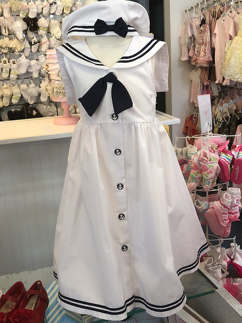 Girls Sailor Dress with Hat