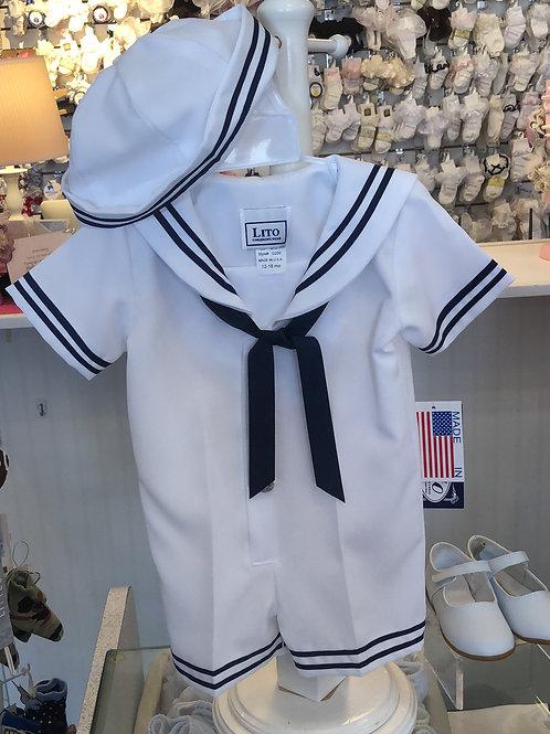 Boys Sailor Suit with Hat
