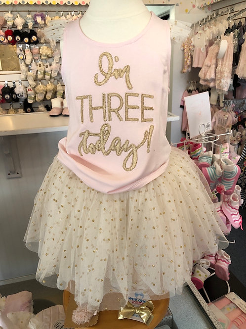 1 2 or 3 birthday outfit