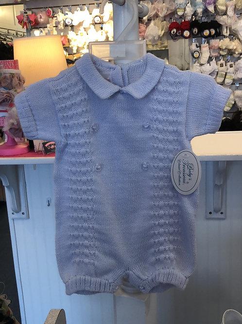 Baby Trousseau  Soft Blue Knit