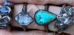 Electroformed copper rings