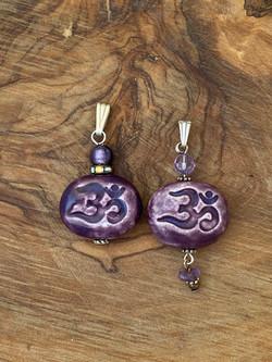 Ceramic Om pendants