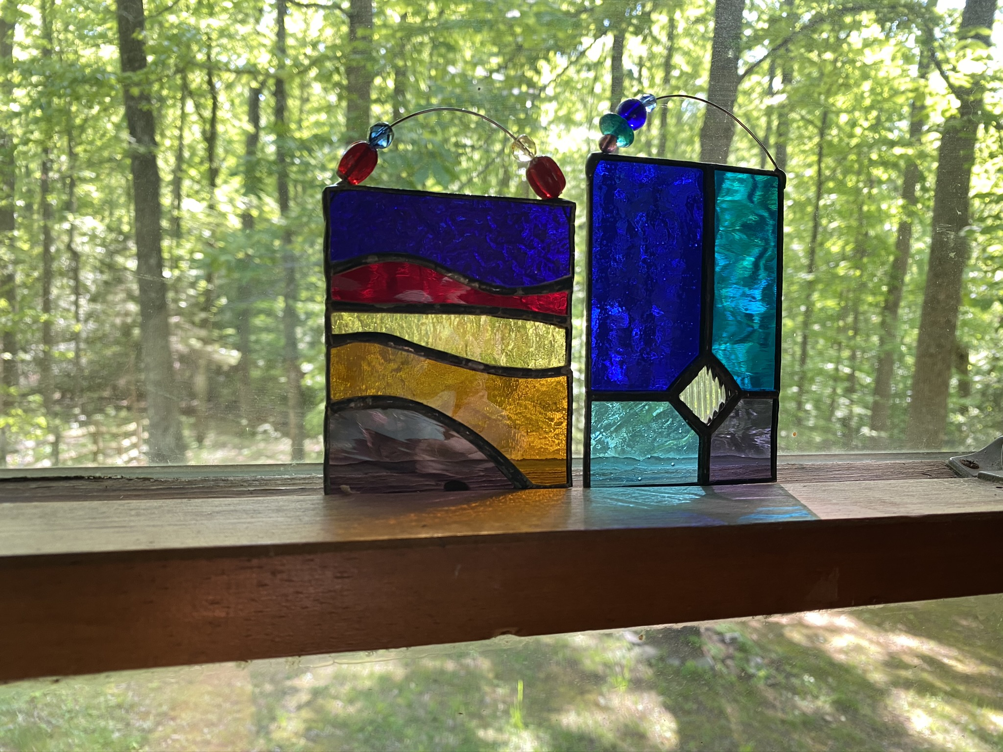 Small stained glass panels