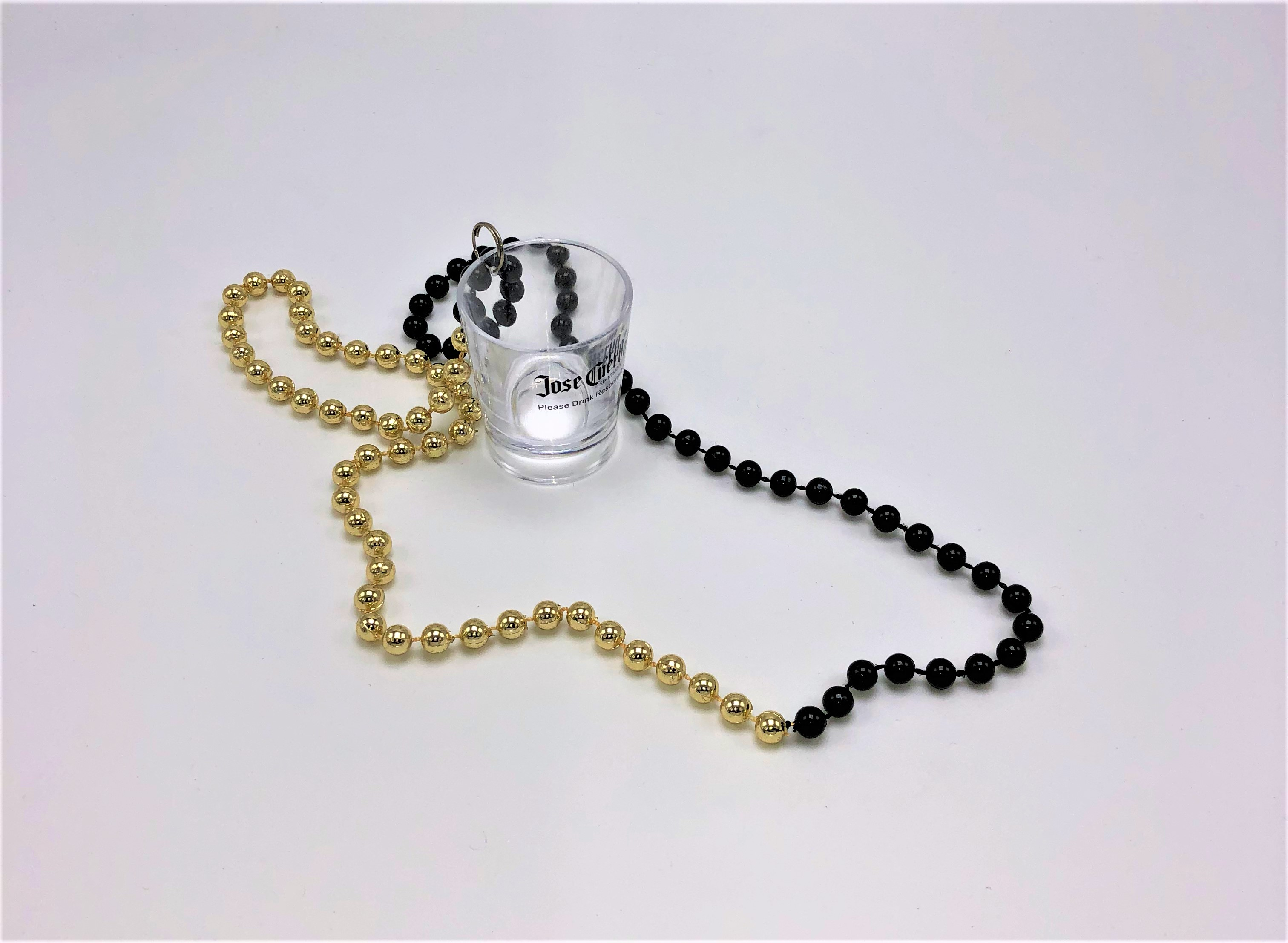 Bead Necklace With Shot Cup (Cuervo)