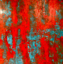 SOLD   Rouge Storm 48x48