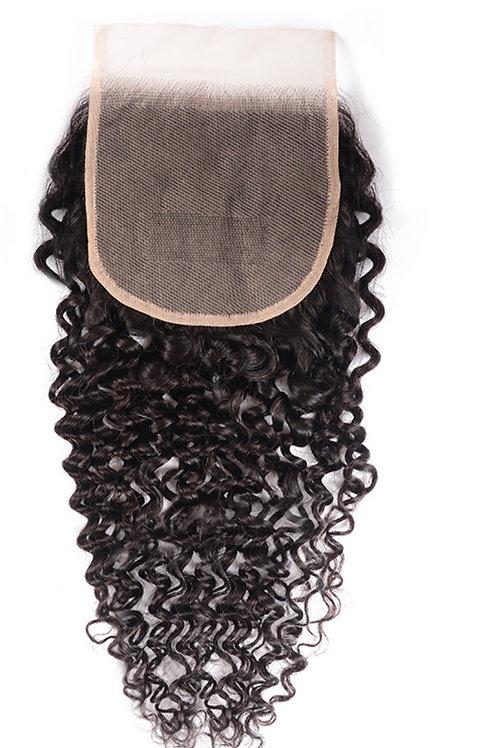 Raw Cambodian Curly Closure