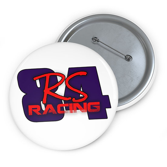 Rs Racing Custom Pin Buttons (White)