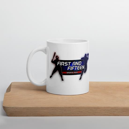 1st and 15 Sports Talk Beer Mug
