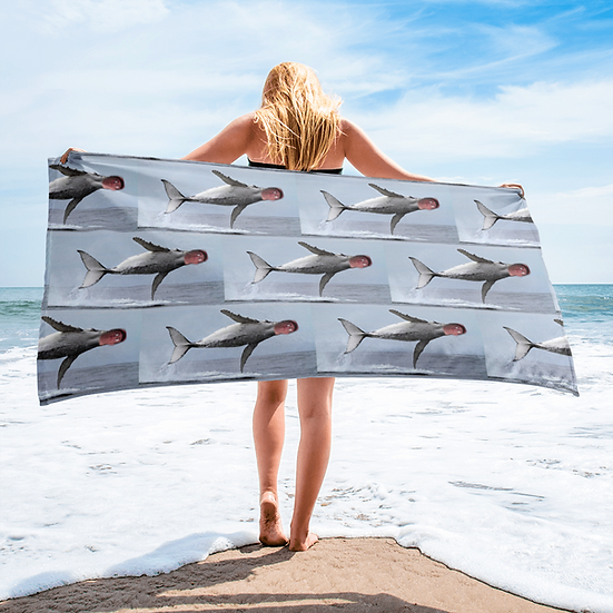 Beached Whale Petey Towel