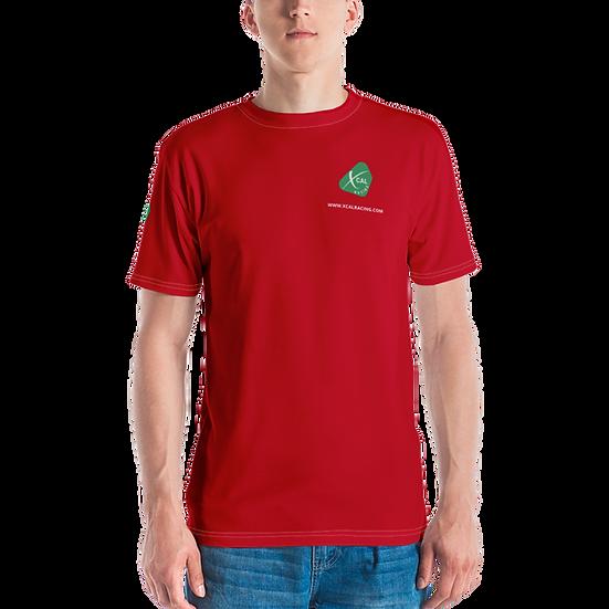 "Rain Delay Red XCAL Racing Logo ""3-Sided"" T-shirt"