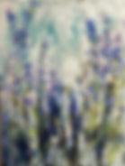Lavender 5, 16''x12'', Encaustic on Wood