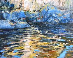 "Magnetawan River #4, 24""x30"", Acrylic on"