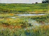 Distant Farm, 18x24, Acrylic on Canvas,