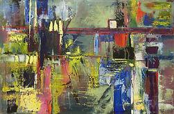 "Labyrinth, 24""x36"", Acrylic on Canvas"