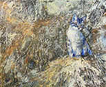 Cat and Mouse, 20x24, Acrylic on Canvas,
