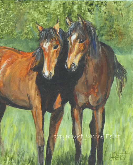 Two Red Fillies    $300