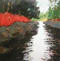 Magnetawan River, 36''x36'', Acrylic on