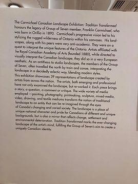 Carmichael Canadian Landscape Exhibition