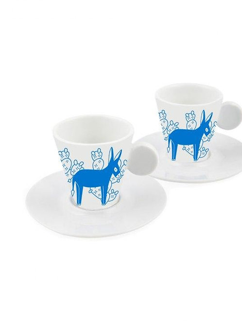 Donkey Espresso Cups, Set of 2