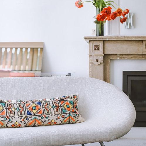 Suke Lumbar Embroidered Cushion