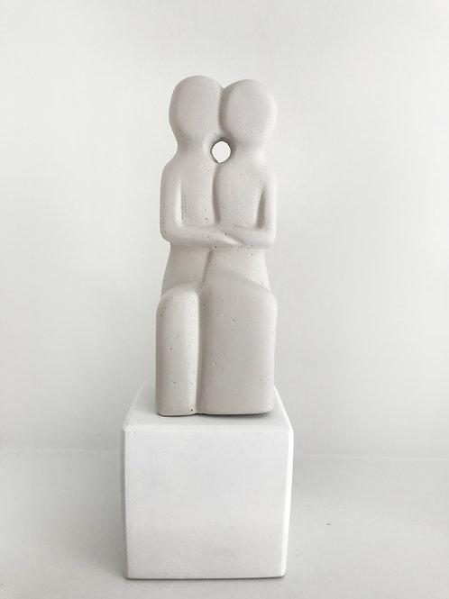 Cycladic Couple Statue