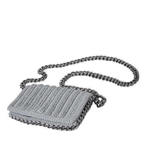 Hand-Knit Rock Chain Handbag