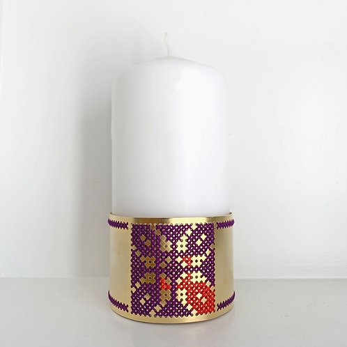 Candle Holder - Mauve