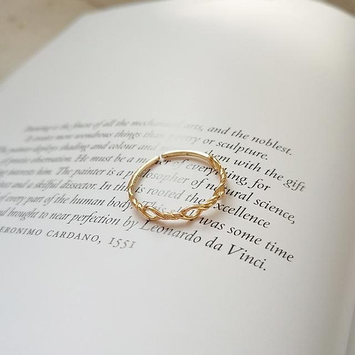 Gold Kotinos Olive Branch Ring