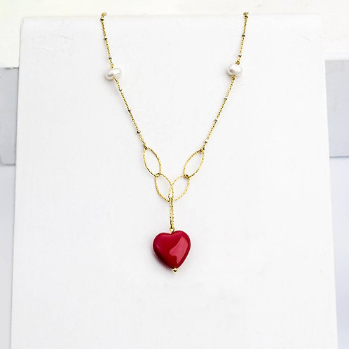 Rosa Red Heart Necklace