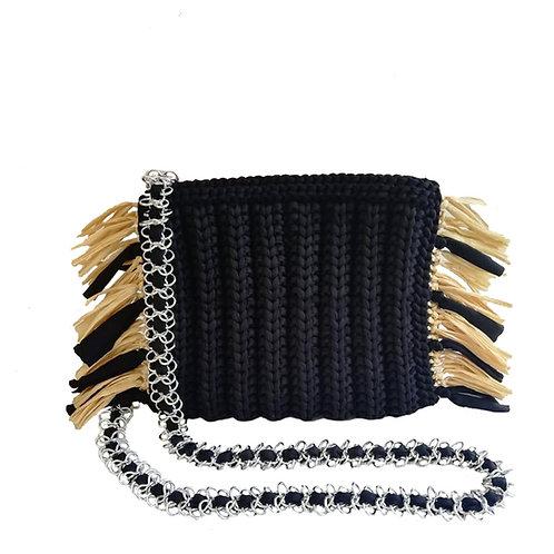 Taghari Raffia Chain Strap Bag