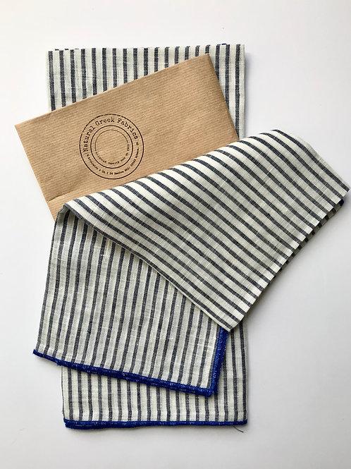 Striped Linen Tea Towels, Set of 2
