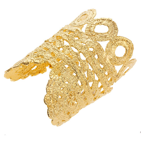 Avalon Gold Lace Cuff