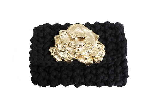 Woven Clutch, Sculpted Seaweed Embelishment