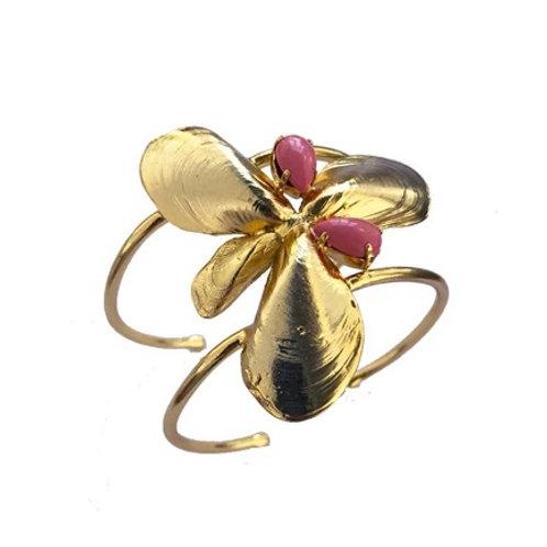 Mussel Shell & Stone Bracelet