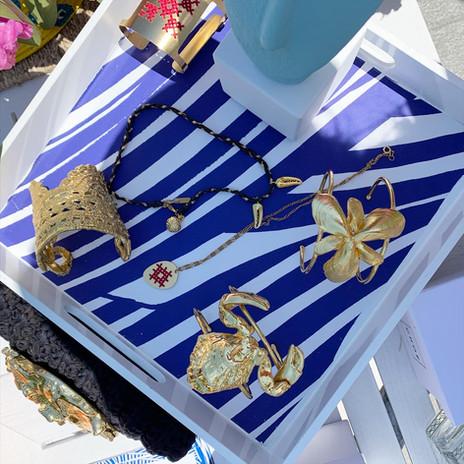 Jewelry tray at Capri Hotel Pop Up