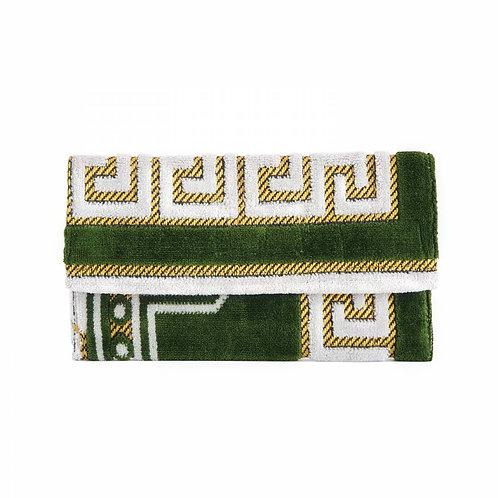 The Greek Source Woven Greek Key Clutch
