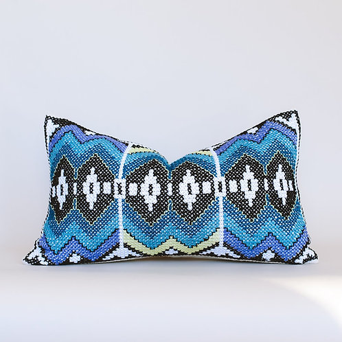 Nereid Embroidered Cushion